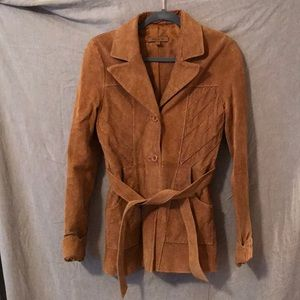 Arden B. Vintage Swede/Leather Coat Size Small GUC